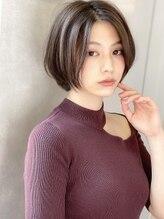 アグ ヘアー ティア 狭山店(Agu hair tea)《Agu hair》色っぽワンレンアッシュショート