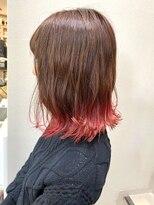 ラガッツァ(La ragazza)裾カラー レッド