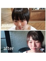 SRオリジナル前髪デザインカット 8