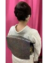 ハナココ 水戸店(hana Coco)訪問着 和髪 和装 きっちりヘア パールかんざし 水戸