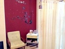 ヘアーメイク シーアンドシー(Hair make C&C)の雰囲気(カーテンで仕切られた待合空間では 寛ぎのひとときを・・☆)