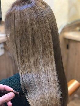 """ライツ(ReiZ)の写真/[渋谷、初上陸]ブリーチをしてても《サラサラ》に*従来の""""髪質改善""""よりワンランク上の仕上がりを♪"""