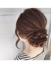 ヘアリゾート ラグーン(hair+resort lagoon)フォーマル三つ編みスタイル