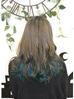 ヘアーサロン エール 原宿(hair salon ailes)(ailes 原宿)style402 ターコイズグリーン☆フェザーロング