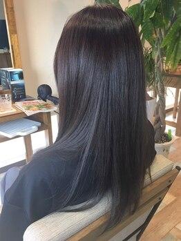 リックスヘアー(RIX HAIR)の写真/【新規様は半額★】ハイダメージで切るしかないと諦めていた方に!補修だけでなく、芯から強い美髪に改善♪