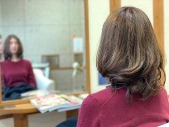 美容室 グラン ブルーの写真/【ダメージレスカラーで毎月染めてもダメージ削減♪】