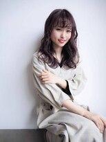 シーヘアデザイン(SHE.hair design)大人ミディ×フォギーベージュ