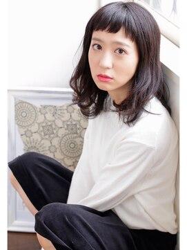 ヘアアンドメイク エジェリ(hair&make egerie)【egerie】シースルーバング、短め前髪♪外国人風ロブ