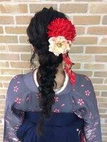 卒園式 袴ヘア 編みおろしヘア