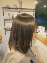 アミィヘアー(Ami Hair)ダークアッシュグレージュ×ロブ