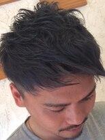 ヘアー チクタク(Hair Ciku-taku)アッシュグレー×質感2ブロック