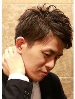バルビエ グラン 銀座(barbier GRAND)2ブロック束感ニュアンスカールスタイル <理容室>