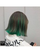 ヘアメイクミワ(HAIR+MAKE MIWA) dark beige×forest green