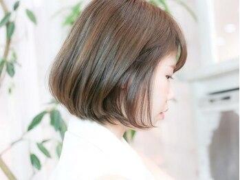 エトネ ヘアーサロン 仙台駅前(eTONe hair salon)の写真/《仙台駅前》明るく柔らかいふんわりとした印象の色味が叶う♪健康的な艶のある上品な白髪染めがおすすめ☆