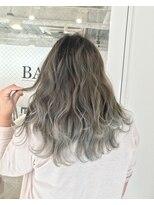 バンクスヘアー(BANK'S HAIR)ブルーホワイトベージュ×バレイヤージュ