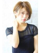 ガーデン ハラジュク(GARDEN harajuku)【Grow】高橋 苗 ニュアンス小顔ショート×ミルクティーカラー