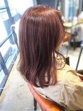 インス(ensue)ensue京都○大人かわいいワンカール艶カラー暖色系カラー○ayame