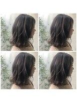ヘアーメイクチック(HAIR MAKE CHiC)バレイヤージュハイライトxネイビーグレージュ