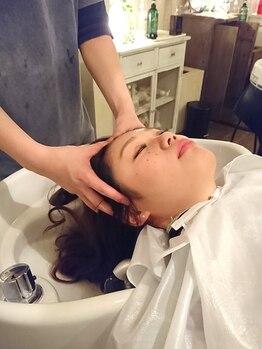 ベーシック ヘア クリエイション(BASIC hair creation)の写真/日々頑張っている自分にご褒美メニュー♪極上<リフトアップスパ¥2,200~>健やかな髪は地肌から育てる☆