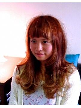 ヘアーカーブ(haircarve)haircarve秋冬・スィートオレンジブラウンカラー★