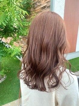 イコ ヘアー デザイン(ICO hair design)の写真/外国人風ふわっとカラーから、オルチャン風お洒落カラーまでなんでもご相談ください♪