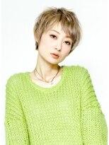 ショートレイヤーのグラデーションカラーの大人ショート☆画像