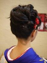 キーナ(Organic Hair KI-NA)正統派お着物アップスタイル