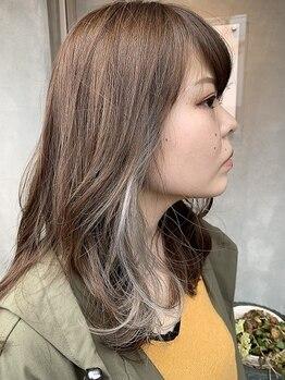 ルブランヘアギャラリー(Le blanc hair gallery)の写真/[イルミナ/オーガニックカラー使用]暗めカラーにも透明感はマスト!人気のインナー/グラデカラーもお任せ*
