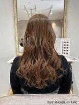 フローレス バイ ヘッドライト 三鷹店(hair flores by HEADLIGHT)Aシルエットエッジカール×トーンアップカラー