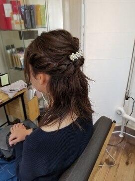 アリシアヘアー(ARISHIA hair)やるあみハーフアップ☆【ARISHIA hair 那珂】