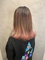 アルマヘア(Alma hair)【Alma】外ハネボブ☆ピンクバレイヤージュ