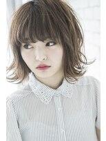 【miel hair blanc】フェザーロブ レイヤーカール