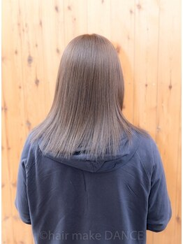 ヘアーメイク ダンス(hair make DANCE)の写真/縮毛矯正後とは思えない質感に感動..エアストレート導入☆ダメージを最小限にし、ずっと触っていたい髪へ