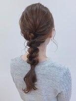 ピエドプールポッシュ(PiED DE POULE POCHE)* arrange hair * × 編み下ろし