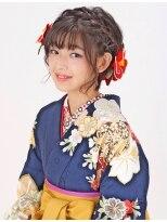 【袴】ナチュラルキュートなショート編み込みアレンジ ★夢館★