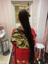 ロングロングポニーテール つけ毛使用 成人式に大人気!水戸