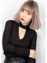 ヘアサロン ガリカ 表参道(hair salon Gallica)『 BOB ×プラチナグレージュ』☆ミルクティーカラー