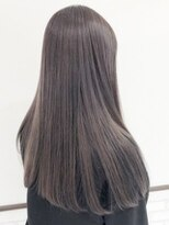 暗髪×透明感パープルグレージュ