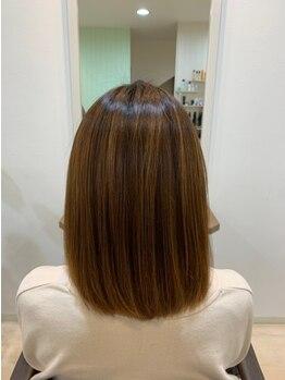 リベルタ ヘア デザイン(liberta hair design)の写真/【土岐市】髪質改善☆ヘアカラーのダメージにも、サロン厳選トリートメントでうるツヤヘアに導きます♪