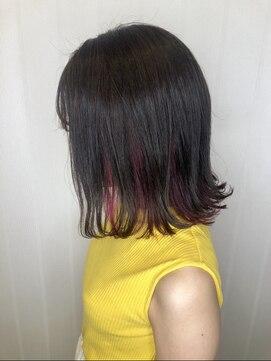 ソース ヘアアトリエ 梅田(Source hair atelier)【SOURCE】インナーカラーベリーピンク