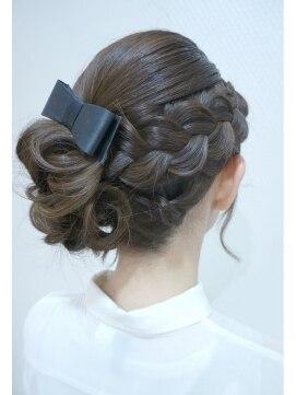 結婚式の髪型 ヘアアレンジ 編み込みモテアップ♪♪