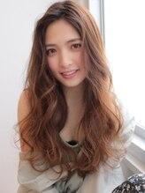 アグ ヘアー テト 可児店(Agu hair teto)《Agu hair》かき上げルーズウェーブのこなれロング