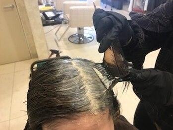 ドルチェ ヘアー(DOLCE hair)の写真/オーガニックカラー使用でツヤ感も持続☆明るめのグレイカラーも叶うワンランク上の仕上がりを実現♪
