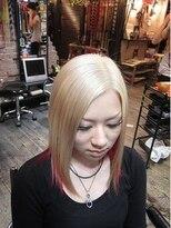 ブリーチの白金、内側ピンク画像