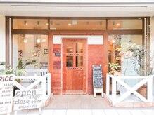 ポラールエクルール(polar equroole)の雰囲気(通り過ぎ注意!!カフェの様なかわいい入口♪自転車はお店の前に☆)