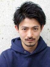 ザサードヘアー カシワ(THE 3rd HAIR)七三オールバック かき上げサイドグラデーション
