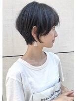 トゥーナ 表参道(tona)20代30代40代50代60代クールショートパーマ黒髪ボブルフ小顔