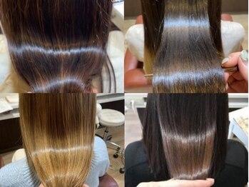 スウィッチグラン(hair salon switch grand)の写真/【酸熱/サミートリートメント】ハイダメージに悩む方ほど効果有◎毛髪を「再整」し理想を超えた手触りに◎