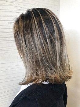 ヘアメイク アリエス 岩切店(HAIR MAKE aries)の写真/デザイン性抜群の艶感あふれるカラーが大人気◎最旬カラーでとびっきりのオシャレを楽しんで!