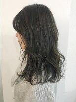 バイフィフス 原宿/表参道(by fifth)オリーブアッシュ/ゆるふわミディアム/イルミナカラー/美髪